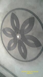 cement POP design for room fan rope