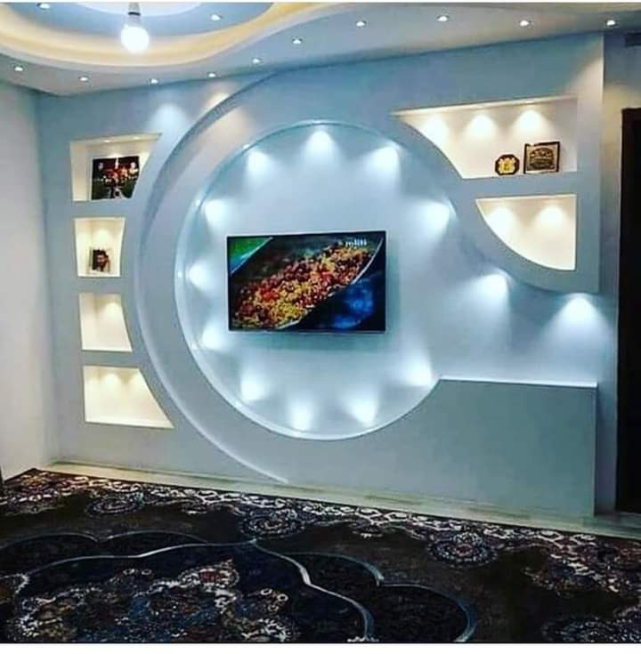 Best Tv Wall Designs ,pop design, False Ceiling Design For TV Wall